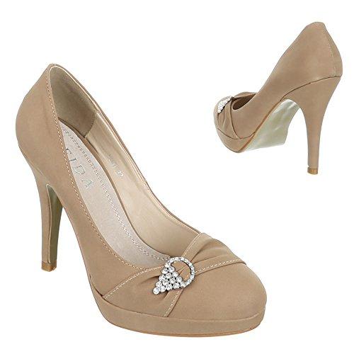 Ital-Design - Zapatos de vestir de Material Sintético para mujer Marrón - caqui