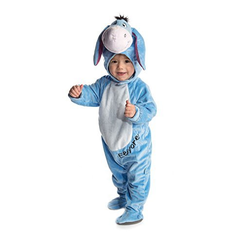 Eeyore Costume Baby (Disney Baby Eeyore Plush All-in-One Romper Costume with Moulded Head)