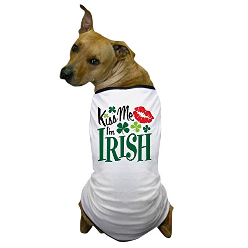 CafePress - Kiss Me I'm Irish Dog T-Shirt - Dog T-Shirt, Pet Clothing, Funny Dog -