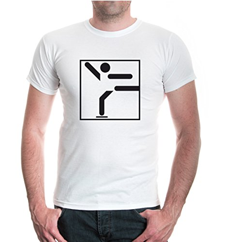 T-Shirt Eiskunstlauf-Piktogramm-M-White-Black