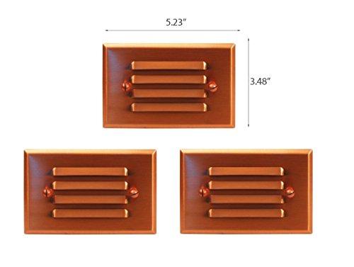 3 Pack Malibu 8421-2401-03 LED Half Brick Outdoor Deck Step Light Copper Finish BY MALIBU DISTRIBUTION by Malibu