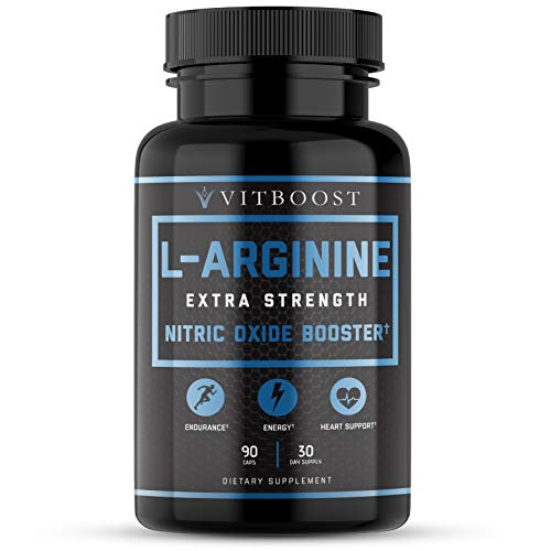 Extra Strength L Arginine 1500mg – Nitric Oxide Supplements for Stamina, Muscle, Vascularity & Energy – Powerful NO…