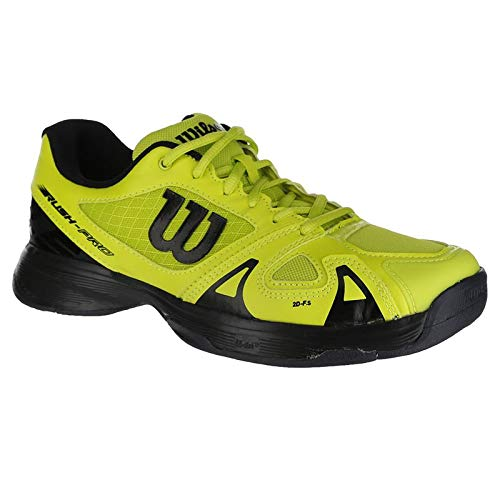 Wilson Kids Unisex Jr Rush Pro 2.5 (Little Kid/Big Kid) Acid Lime/Black/Ebony 1 M US Little Kid