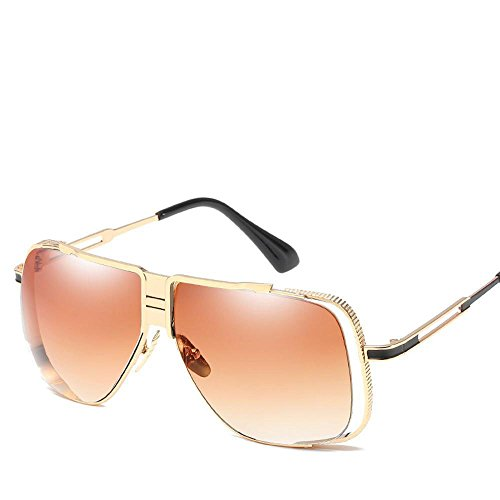 moda sol gafas par E sol marco hombres de Gafas shing los Retro de Metal tendencia Aoligei grande de europea xqtX4UE