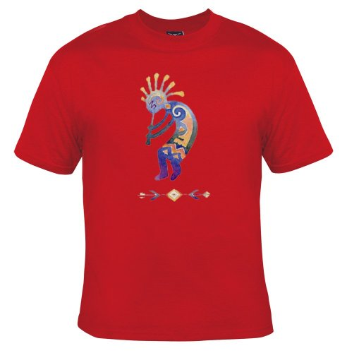 Kokopelli Adult T-shirt - Kokopelli Adult T-Shirt, Red , Medium