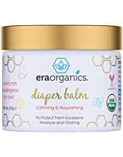 Baby Diaper Rash Balm – USDA Certified Organic Soothing Diaper Rash Treatment for Sensitive Skin Care. Natural Ointment to Nourish and Protect from Infection, Chafing and Irritation Era-Organics