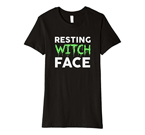 Womens Resting Witch Face Funny Halloween T-Shirt Costumes Small -