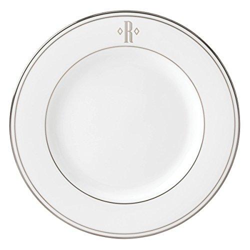 (Lenox Federal Platinum Block Monogram Dinnerware Salad Plate, R)