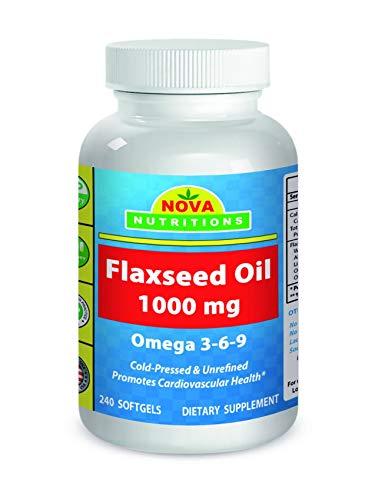 Nova Nutritions Flaxseed Oil 1000 mg 240 Softgels by Nova Nutritions