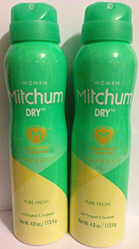 Mitchum For Women Dry Spray Antiperspirant & Deodorant - Advanced Control - Pure Fresh - Net Wt. 4 OZ (113.4 g) Each - Pack of 2