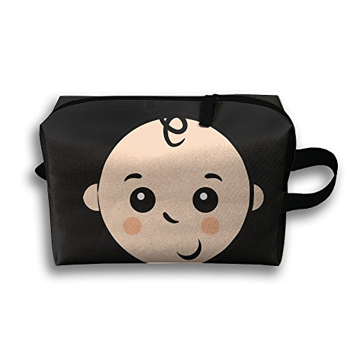 Child Clipart (Travel Pouch Storage Bags Baskets Lovely Baby Boy Clipart Shy Face Cosmetic And Toiletries Organizer Bag 45x35cm)