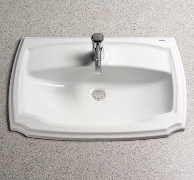 Toto LT971.8-01 Guinevere 8-Inch Centers Self-Rimming Lavatory, Cotton
