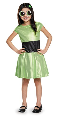 [Buttercup Classic Powerpuff Girls Cartoon Network Costume, Small/4-6X] (Powerpuff Girls Halloween Costumes)
