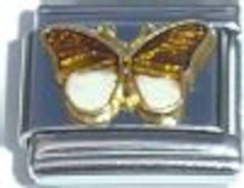 Butterfly Brown Italian Charm ()