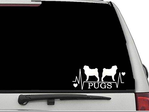 pug window decal - 9