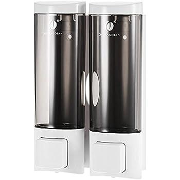 MICOWIN CHUANGDIAN 200ml2 Manual Soap Dispensers Wall-mounted Shampoo Box Shampoo Shower Gel Liquid Soap Dispensers Rest Room Washroom Toilet Soap (White)