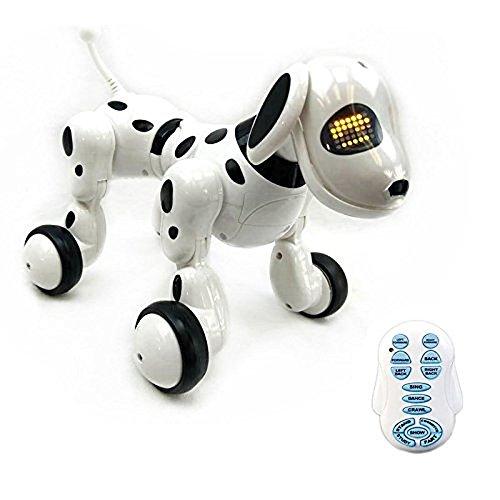 New launch Want Novelty-Sensible White Wi-fi Distant Management Digital Pet Interactive Robotic Canine Toy – Cute Pet Items for Children – Speaks,Walks,Dances,Sings.  Evaluations