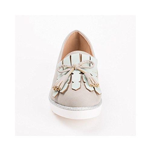 Ideal Shoes, Damen Slipper & Mokassins Grau