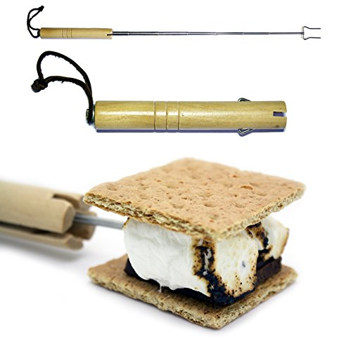 Marshmallow Roasting Sticks Telescoping Forks Must Have Camping Gear For The Family Smores Campfire Stick Stainless Steel Fork