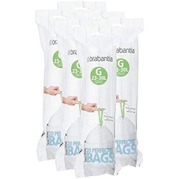 Amazon.com: Brabantia 375668 Bin Liners Dispenser Pack, 23 ...