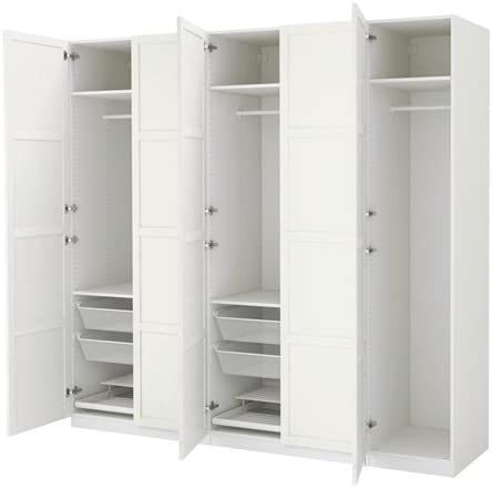 Armadio Ikea 4 Ante.Ikea Wardrobe White Hemnes White Stain 26386 82329 1410 Amazon Ca Home Kitchen