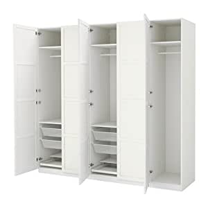 pantry cabinet kitchen ikea white hemnes white stain 26386 1410
