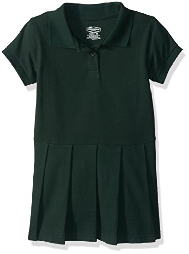 (Classroom School Uniforms Girls' Big Pique Polo Dress, sos Hunter Green, M)