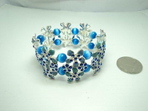 - Fresh orchid flowers rhinestone cat eyes glaze charm bracelet European and American trade of the original 1013