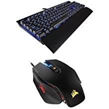 Corsair CH-9101030-NA Gaming K70 Lux Mechanical Keyboard, Backlit Blue Led, Cherry MX Red and Corsair Gaming M65 PRO RGB FPS Gaming Mouse, Backlit RGB LED, 12000 DPI, Optical