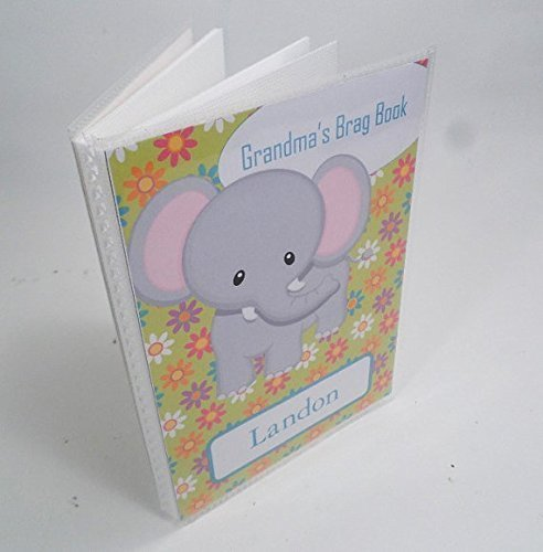 Grandmas BRAG BOOK . 133. 4x6 or 5x7- elephant baby album