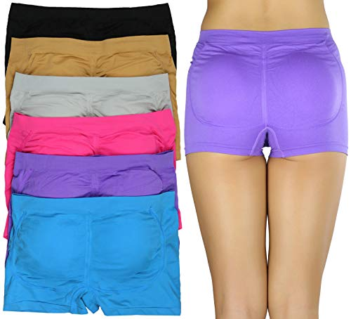 ToBeInStyle Women's Pack of 6 Padded Boyshorts - One ()