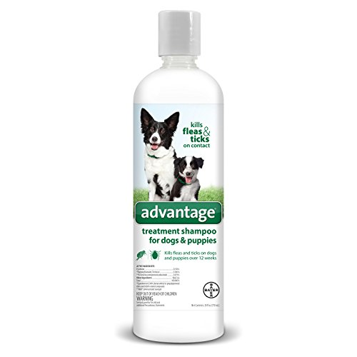 Flea and Tick Treatment Shampoo for Dogs and Puppies, 24 oz, Advantage