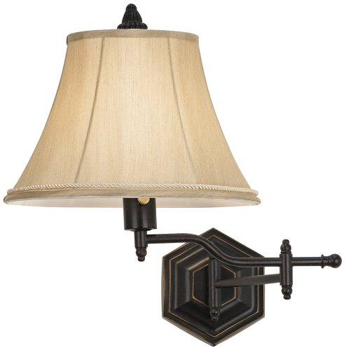 Hexagon Swing Arm Plug-In Wall Lamp by Barnes and (Halogen Plug In Swing Arm)