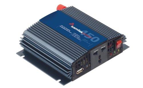 Samlex SAM-450-12E SAM Series Modified Sine Wave DC-AC Power Inverter, 12 Volt, 230VAC, 450W Continuous Output Power, 900W Peak Output Power, USB charging port ()