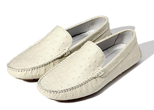 Ostrich Loafers Flats Fake Slip Sneakers Leather Moccasin Fashion TM Ventilated on Men's Apricot Penny HAPPYSHOP Ovq0twSW