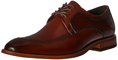 STACY ADAMS Men's Dwight Moc Toe Oxford, Cognac, 13 M US ()