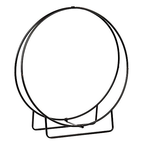 Minuteman International HOOP-48KD Wrought Iron Wood Hoop, 48-Inch H