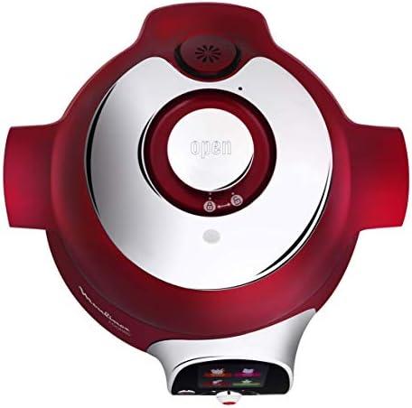 Moulinex Multicuiseur Intelligent Cookeo 6L 6 Modes de Cuisson 100 Recettes Préprogrammées Jusqu'à 6 Personnes Rouge CE701500