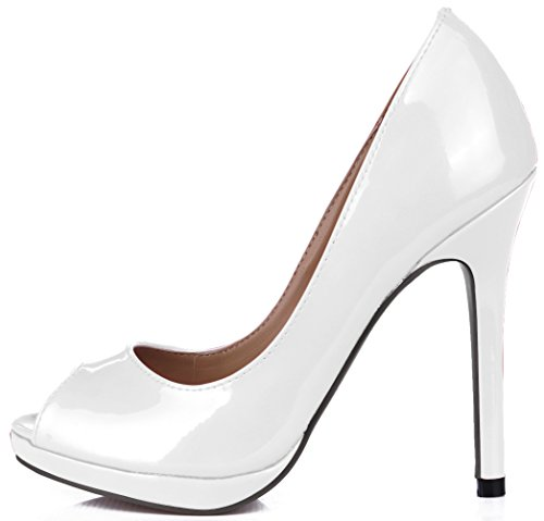 Click the reformer women fall sense of taste fish varnished leather shoe tip the the high-heel shoes Deep Violet isUjOwShhE