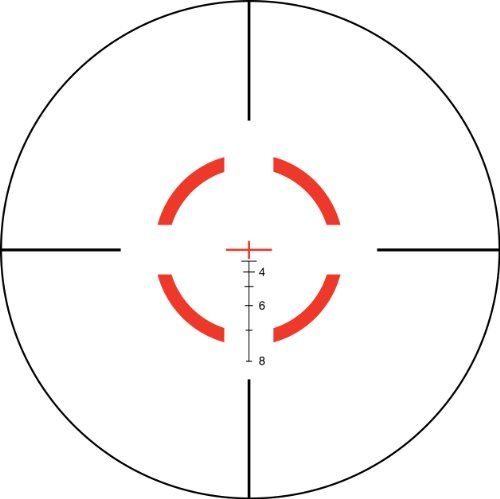 Trijicon VCOG 1-6x24 Riflescope Red Segmented Circle/Crosshair .223/55 Grain Ballistic Reticle with Thumb Screw Mount