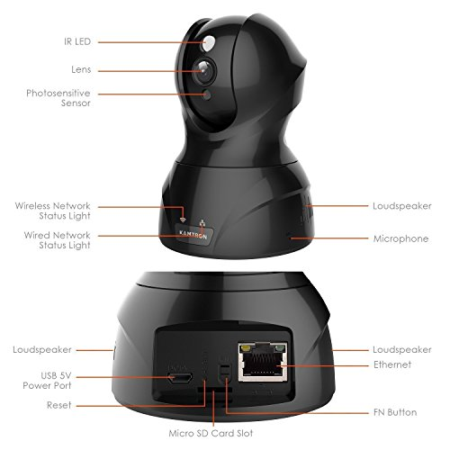Wireless Security Camera with Two-way Audio - KAMTRON 1080P HD WiFi Security Surveillance IP Camera Home Baby Monitor with Motion Detection Night Vision, Black by KAMTRON (Image #4)