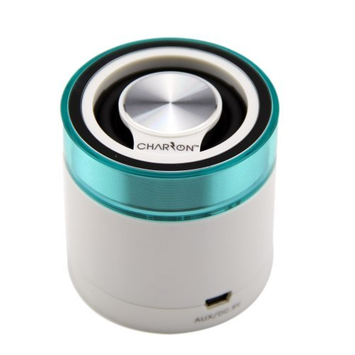 Portable Bluetooth Speaker System for iPhone / Android Smart Phones / iPad / Tablets / Macbook / Notebooks (WHITE)