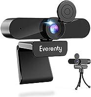 Everenty Webcam PC 1440P Full HD Webcam avec Microphone Stéréo Caméra Web, Webcam PC pour Ordinateur de Bureau pour...