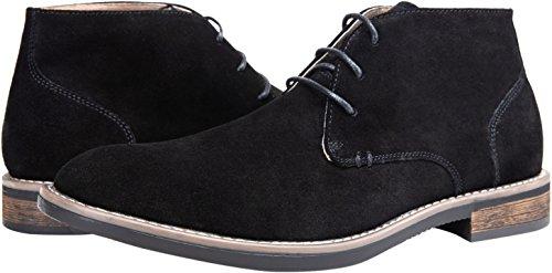 Pictures of JOUSEN Men's Chukka Boots Classic Suede Black 10 M US 3