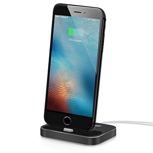 Maxonar iPhone X Charging Dock for AirPods Aluminium Alloy Heavy Charge Station with iPhone 7 / iPhone 8 / 8 Plus / 7S Plus / iPhone - Outlet Preminum