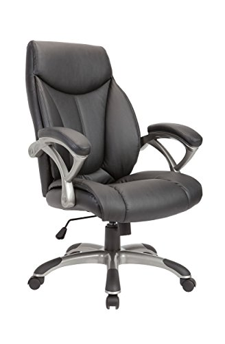 Christies Home Living Leather Comfortable Adjustable Chairs, Black from Christies Home Living