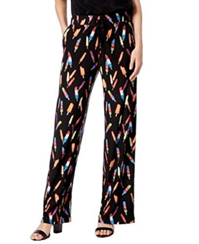 (INC International Concepts Petite Popsicle-Print Wide-Leg Soft Pants (Ice Pop Frenzy, PS/Petite Small))