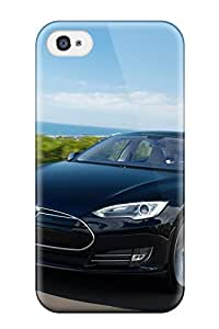 Tpu Case Cover Compatible For Iphone 4/4s Hot Case Tesla Model S 38