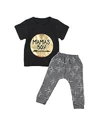 2pcs Newborn Toddler Infant Baby Boy Clothes T-shirt Top+Pant Outfit Set - ACU, 70cm