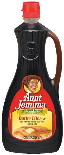 Aunt Jemima Butter Lite Pancake Syrup 24 oz (2 Pack)